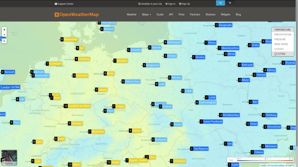 OpenWeatherMap – best weather data API for your projects