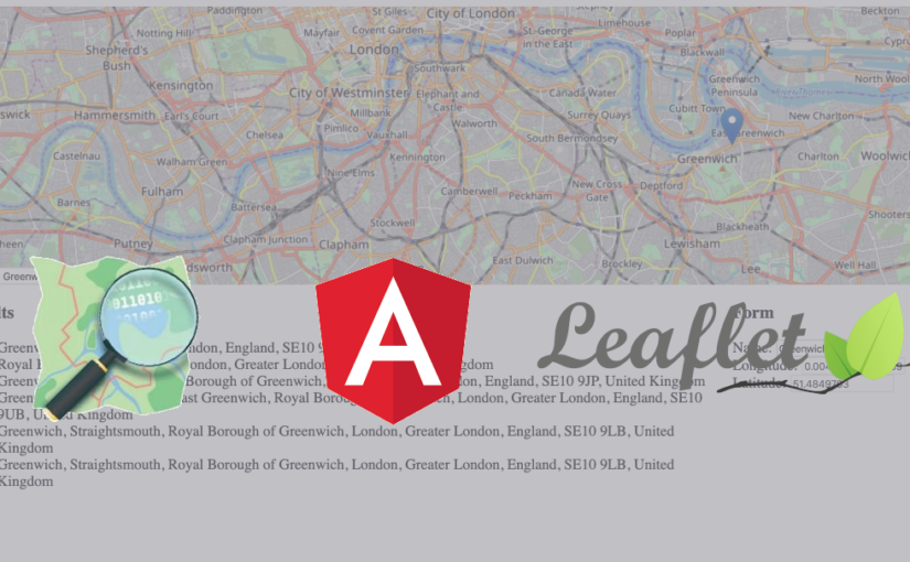 Angular 10 with Leaflet map – geocoding using Nominatim API